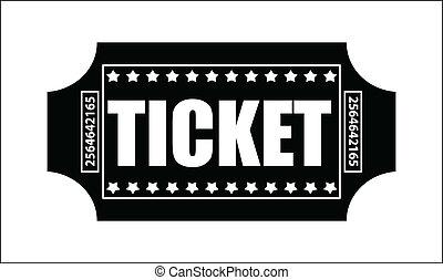 Ticket Vector - Creative Abstract Conceptual Design Art of...