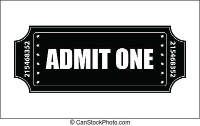 Entry Ticket Vector - Creative Abstract Conceptual Design...