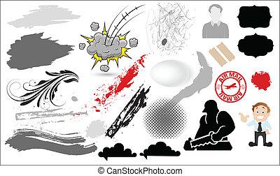Grunge Retro Graphics - Creative Abstract Conceptual Design...