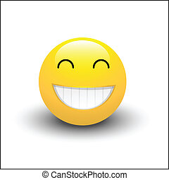 Laughing Smiley - Abstract Conceptual Artistic Design Art of...