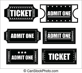 Tickets Vectors - Abstract Creative Conceptual Design Art of...