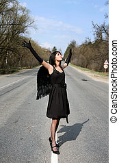 angel in the road