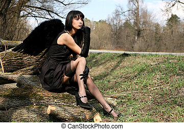 black angel outdoors