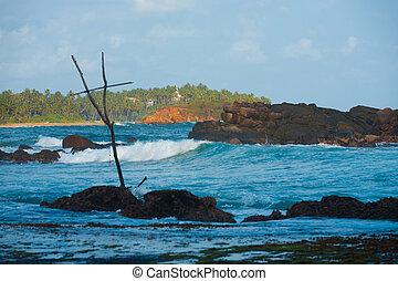Surf Destination Wave Break Mirissa Stilt Fishing