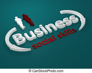Business - Social skills - letter - Illustration about...