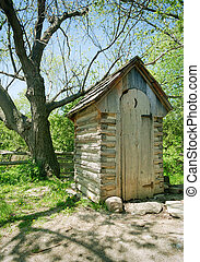 Outhouse - Image of an outhouse or outdoor toilet in the...