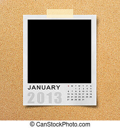Calendar 2013 on photo background - Calendar 2013 on blank...