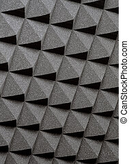 Studio acoustic foam - Background image of recording studio...