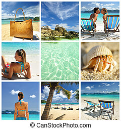 Resort collage - Collage made with beautiful tropical resort...