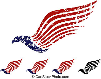 American eagle symbol, vector illustration