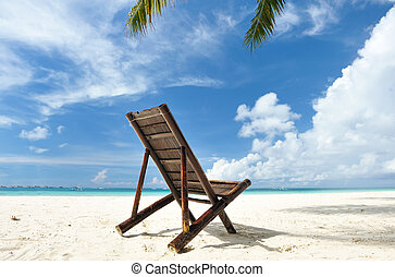 Chaise lounge at beach
