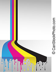 cmyk flow - four colors cmyk flow