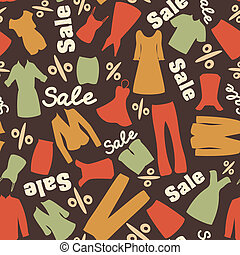 Retro pattern of clearance sale - Seamless pattern with man...