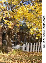 Autumn country church scene - A scenic image of a country...