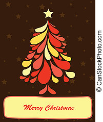 Abstract christmas tree Vector art illustration background