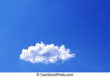 White cloud in a blue sky - White clouds in a blue sky Great...
