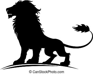 Lion - Vector illustration of a silhouette of a proud lion