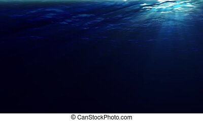 Underwater Sunrays - Underwater scene with sunrays shining...