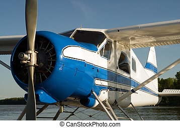 Water Plane - A small water plane with the single engine...