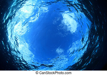 Water surface of the ocean