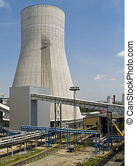 Cooling Towers at an electricity generating station - Close...