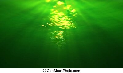 Underwater Sunrays Murkey - Underwater scene with sunrays in...