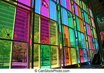 Colorful Windows - The colorful windows from the inside of...