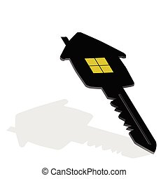 key with house on it vector illustration
