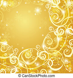 elegant christmas gold background