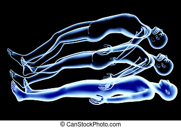 Astral Projection - 3d rendered Illustration. Astral...