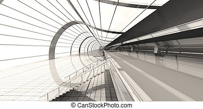 Airport Architecture - 3D rendered Illustration
