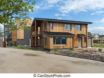modern house - newly build modern wooden house in Almere,...
