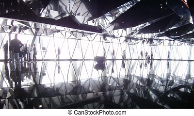 Tourists photograph inside Sightseeing TV Tower Canton