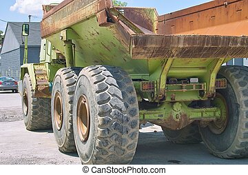 Massive Truck - An angle view of a massive truck built for...