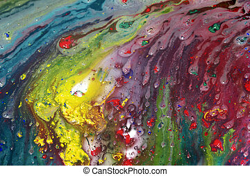 Abstrakcyjny, Malarstwo, mokry