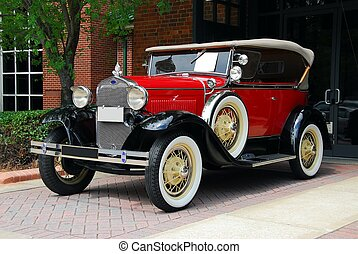 vintage automobile - photographed vintage car at show in...