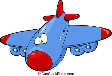 Cartoon airplane on a white background vector illustration