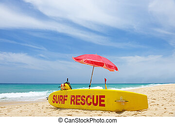 Surf rescue - Lifeguard rescue surf on a beach Not any kind...
