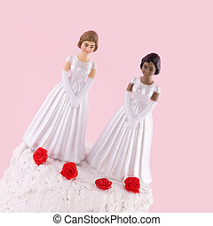 lesbian wedding day - two brides at a lesbian wedding day