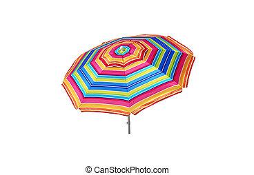 Beach Umbrella Isolated - Beach umbrella isolated on white...