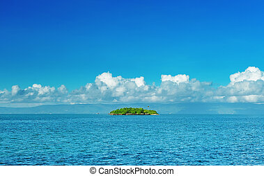 Uninhabited island - Beautiful uninhabited island at...