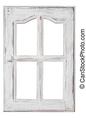 old wood Window - An old wood Window white paint and grunge,...