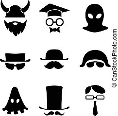 B/W Avatar. - Character Logo collection. B/W Avatar. Vector...