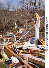 Tornado aftermath in Lapeer, MI - LAPEER COUNTY, MI - MARCH...