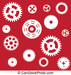 Machine Gear Wheel Cogwheel seamless pattern. Vector...