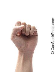 hand fist symbol isolated