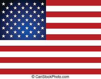 American Flag for Independence Day Vector illustration
