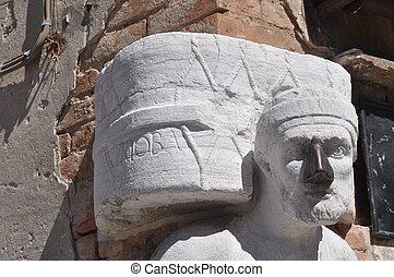 Ancient mask in Venice, Italy