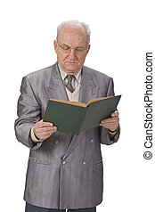Senior man reading - Image of a senior man reading a book...