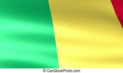 Mali Flag Waving